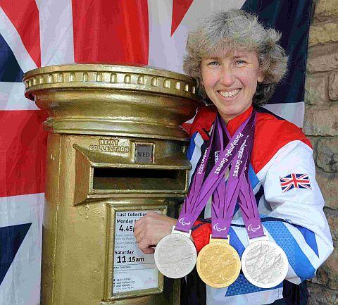 Paralympic star Deb Criddle's golden postbox in Trull will remain gold - Royal Mail