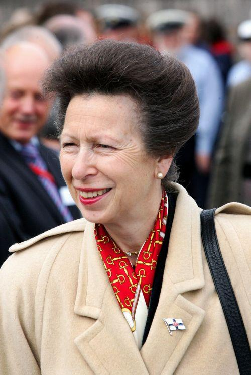 Princess Anne greets members of the Watchet community. PHOTO: Steve Guscott