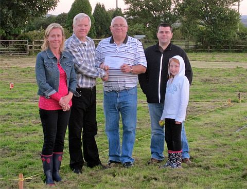 The cheque presentation from David Fothergill, county c