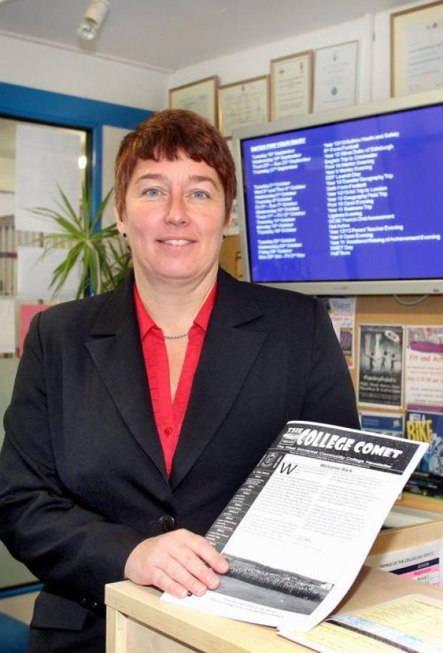 Gaynor Comber, the new principal of West Somerset Community College. PHOTO: Steve Guscott