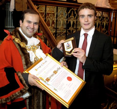 Somerset County Gazette: Steven Burke becomes a freeman of Pendle