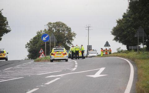 The scene of the Sunday's crash on the A38
