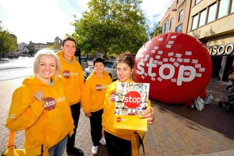 Stop Smoking advisers in the town centre