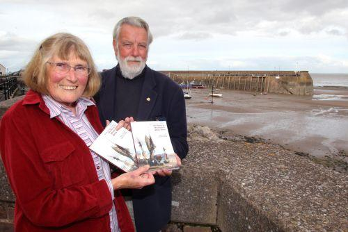 Co-authors Sue Lloyd and John Gilman at Quay Town harbour. PHOTO: Steve Guscott