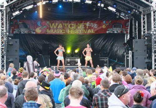 The Cheeky Girls were just one of the acts which struck the right note with revellers at this year's Watchet Music Festival. PHOTO: PGphotography 07789557709