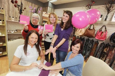 Taunton store goes pink for charity