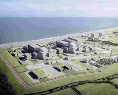 Somerset County Gazette: An artist's impression of Hinkley Point C