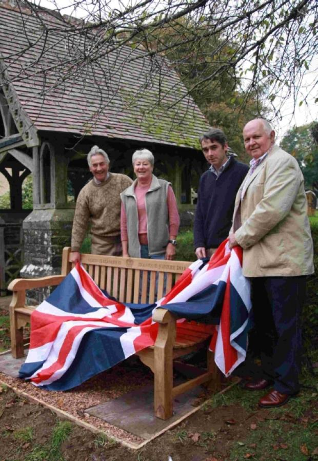 Chipstable gets a Diamond Jubilee bench