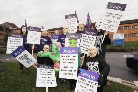 UNISON Musgrove workers in South-West pay cartel protest