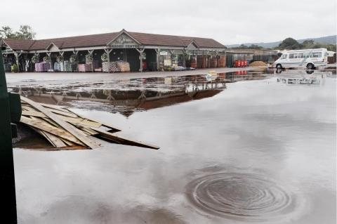 The scene at the garden centre when it flooded in September