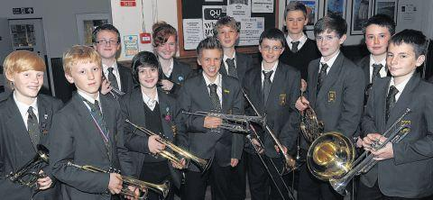 PUPILS from Castle School competed in the solo brass aged 12 and under category.