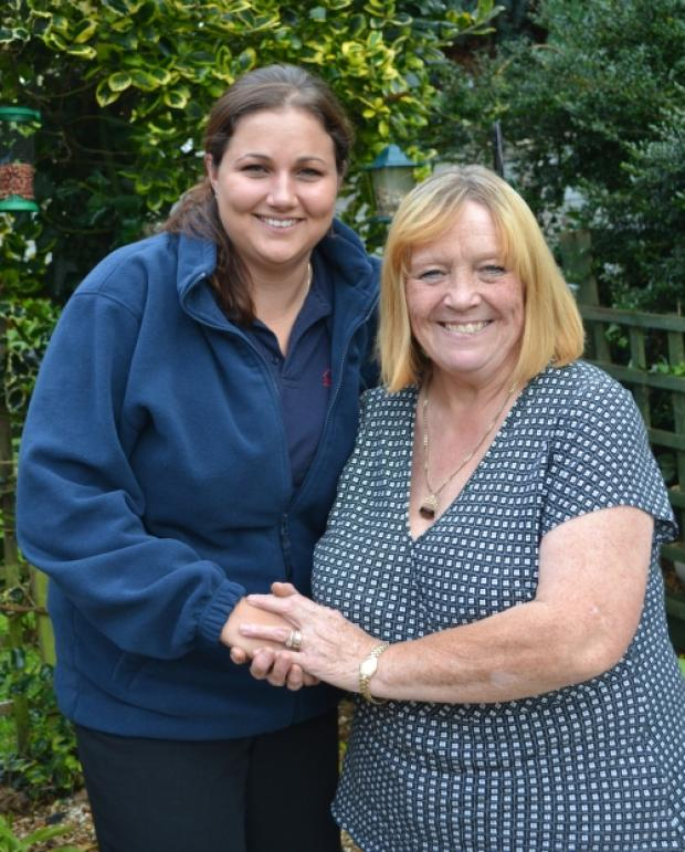 Somerset County Gazette: Magna support warden Emma Tucker with Emma Colquhoun.