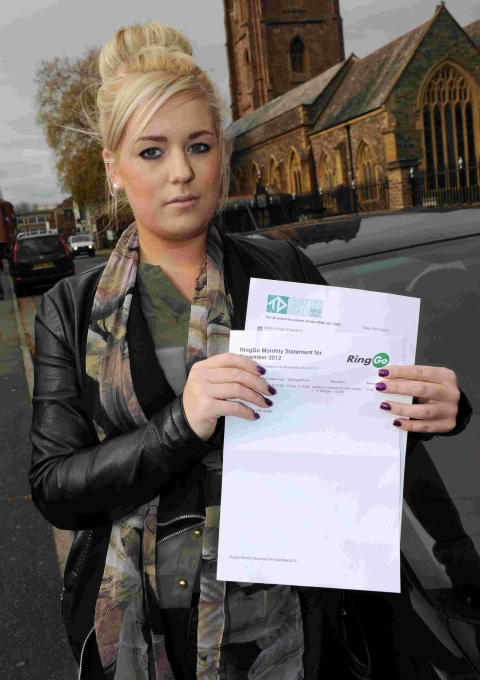 Rosie Roberts says she was given a parking ticket despite using the RingGo parking system.