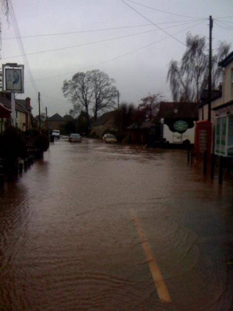 Flooding in North Curry, Somerset, in November 2012