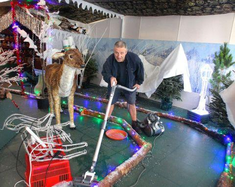 PHIL Winter cleans up at the centre's Christmas attraction. PHOTO: Steve Guscott