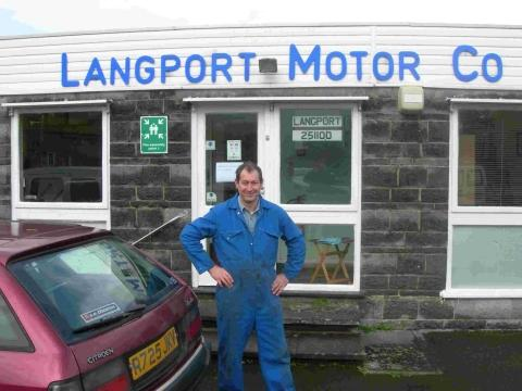 Richard White, from Langport Motor Company, was cut off because of flooding.