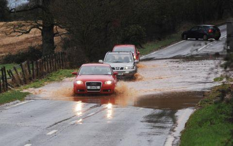 Flooding on the Wellington relief road