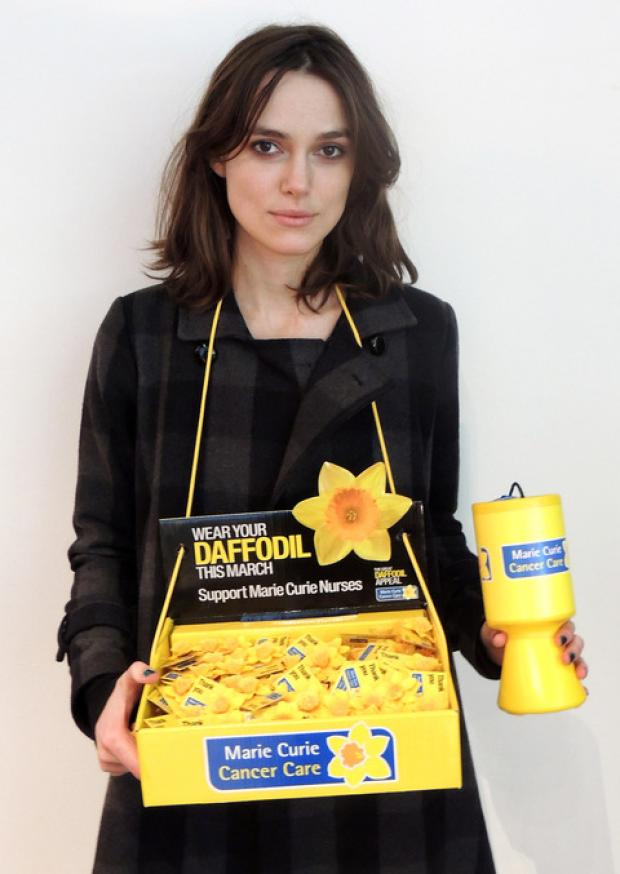 Keira Knightley is backing the Great Daffodil Appeal.
