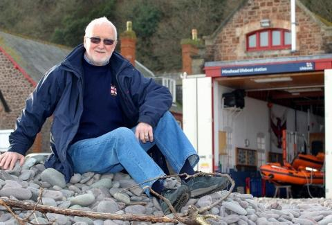 David James has retired from the Minehead branch of RNLI at the age of 74.