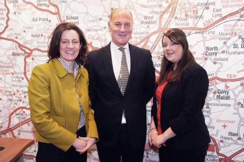 Jessica Lawson, Robert Cooney and Kate Trewhella of Robert Cooney estate agents.