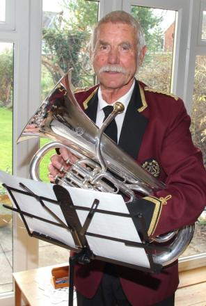 Richard Binding is encouraging new musicians to join the band. PHOTO: Steve Guscott