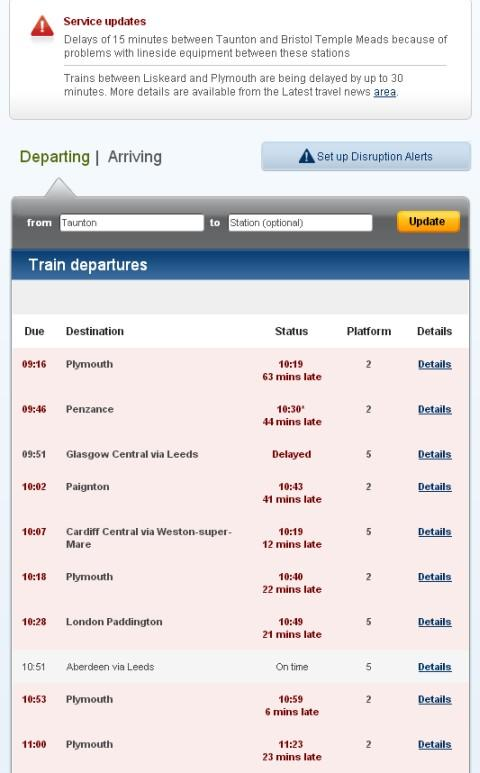 National Rail departures.