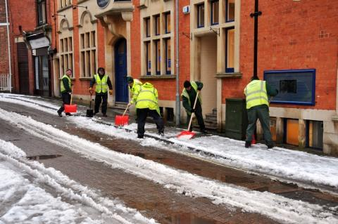 Council workers in Bridgwater.