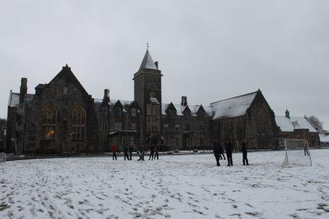 Somerset County Gazette: Taunton School in the snow. January 23, 2013