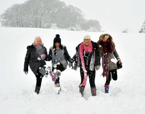 Somerset County Gazette: Fun in the snow at Nether Stowey. January 23, 2013.