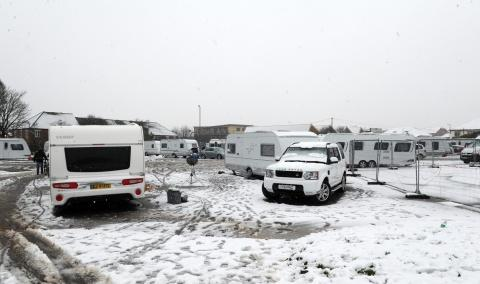 The caravans arrived on Wednesday.