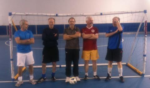 The winning team at the seniors football session.