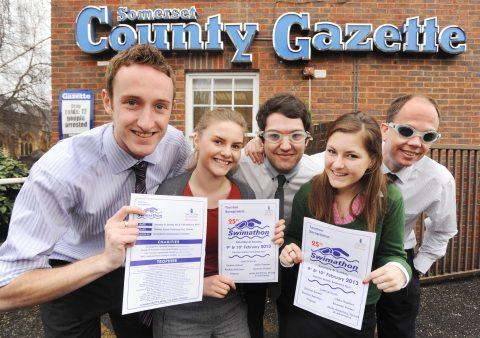 The County Gazette's Swimathon team.