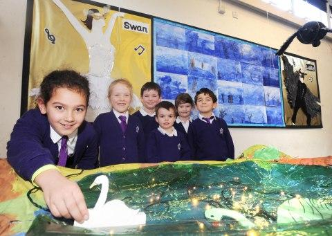 Bishop Henderson pupils show off Swan Lake display
