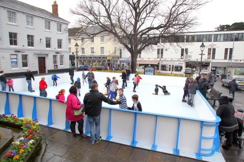 The first WonderIce rink in Minehead, part of the town's winter festival. PHOTO: Steve Guscott