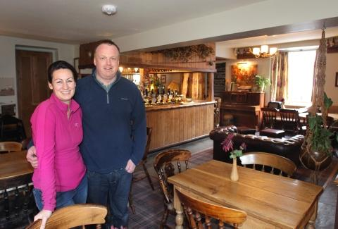Owners of the Bridge Inn, Rachel and Kenny McDonald. PHOTO: Steve Guscott