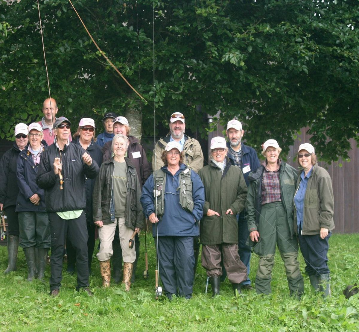 FISHING guru Charles Jardine with the volunteers and ladies at one of the fishing sessions. PHOTO: Submitted.