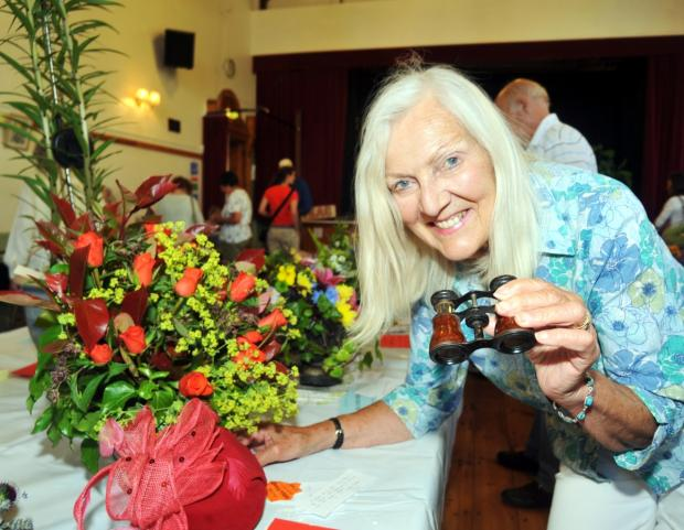 ylvia Woodgate, who won the James Challenge Cup for the best individual floral arrangement at last year's show.