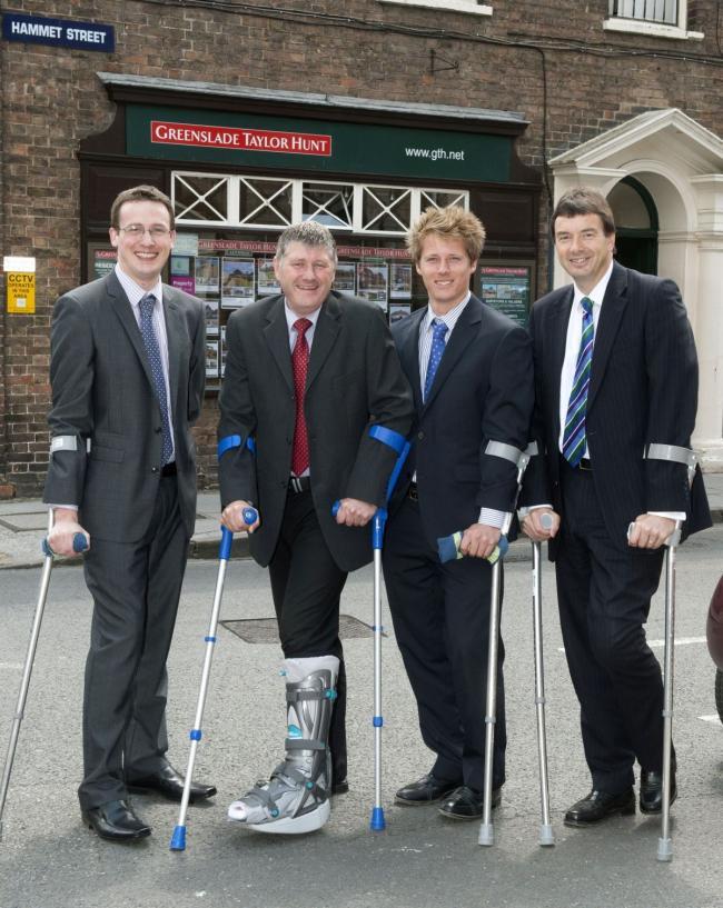 Four Greenslade Taylor Hunt estate agents end up on crutches