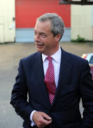 NIGEL Farage says charity should begin at home