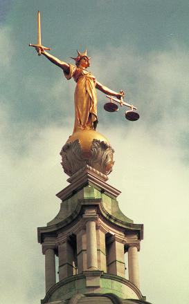The scales of justice.