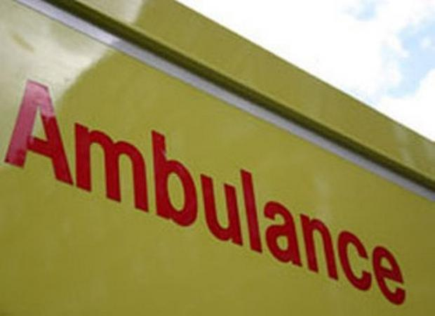 Ambulances attended crash in Minehead