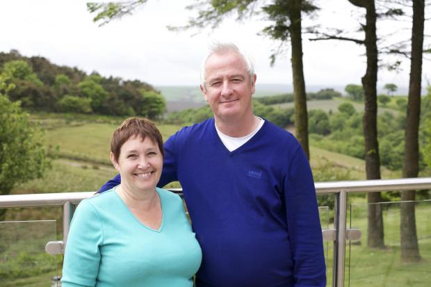 LESLEY and Tony O' Shaughnessey, owners of Pips Pubs who are up for the New Business Award.