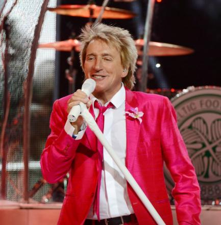 Rocker Rod Stewart, who is performing at the County Ground in June.
