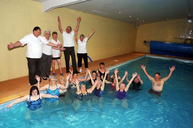 POOL PALS: Members are delighted to hear news of their £6,872 grant from the Gannett Foundation.