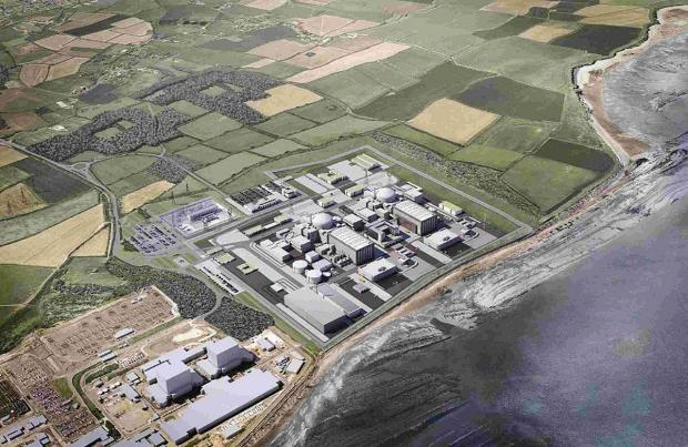 Somerset County Gazette: A computer generated image of the Hinkley C power station