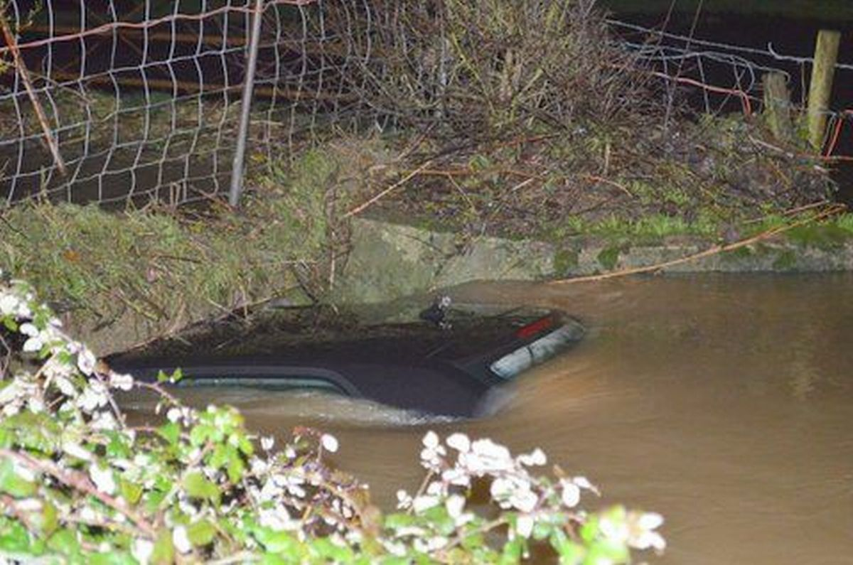 Driver 'lucky to be alive' after car swept away in floods at Beercrocombe