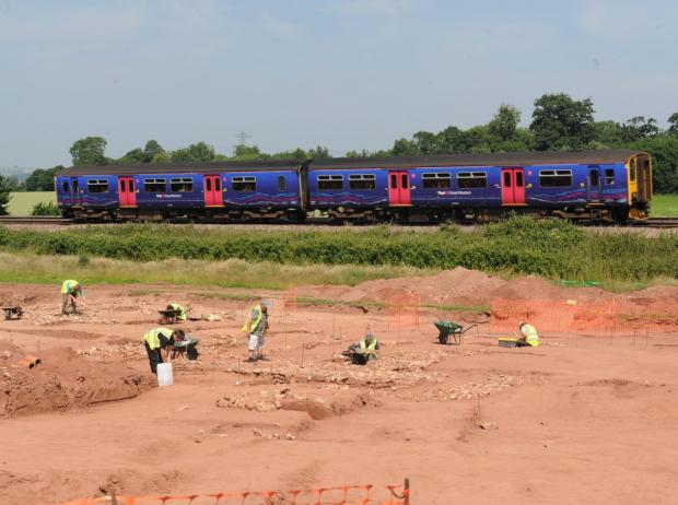 The site was unearthed next to the railway tracks.