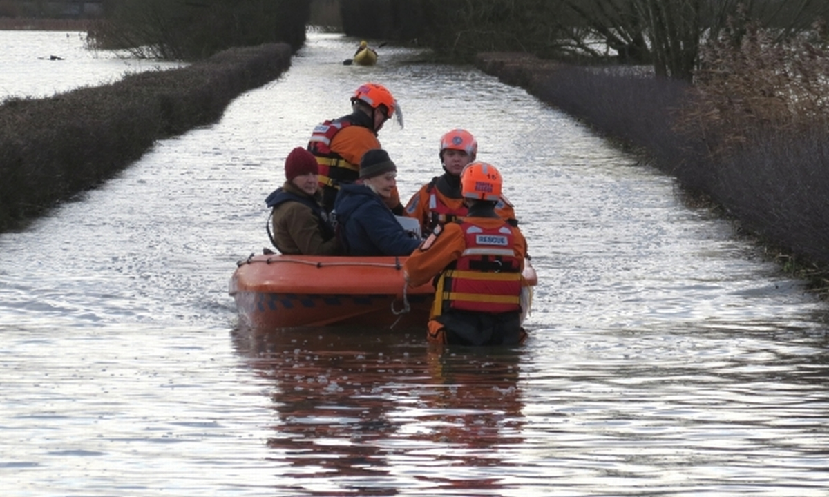Muchelney has been cut off by floods for three weeks