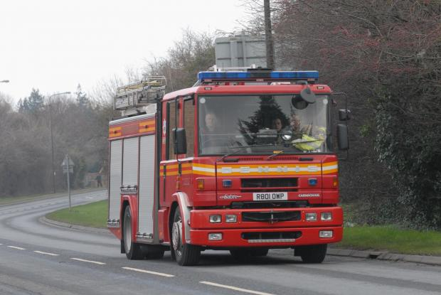 Two-vehicle collision in Culmhead