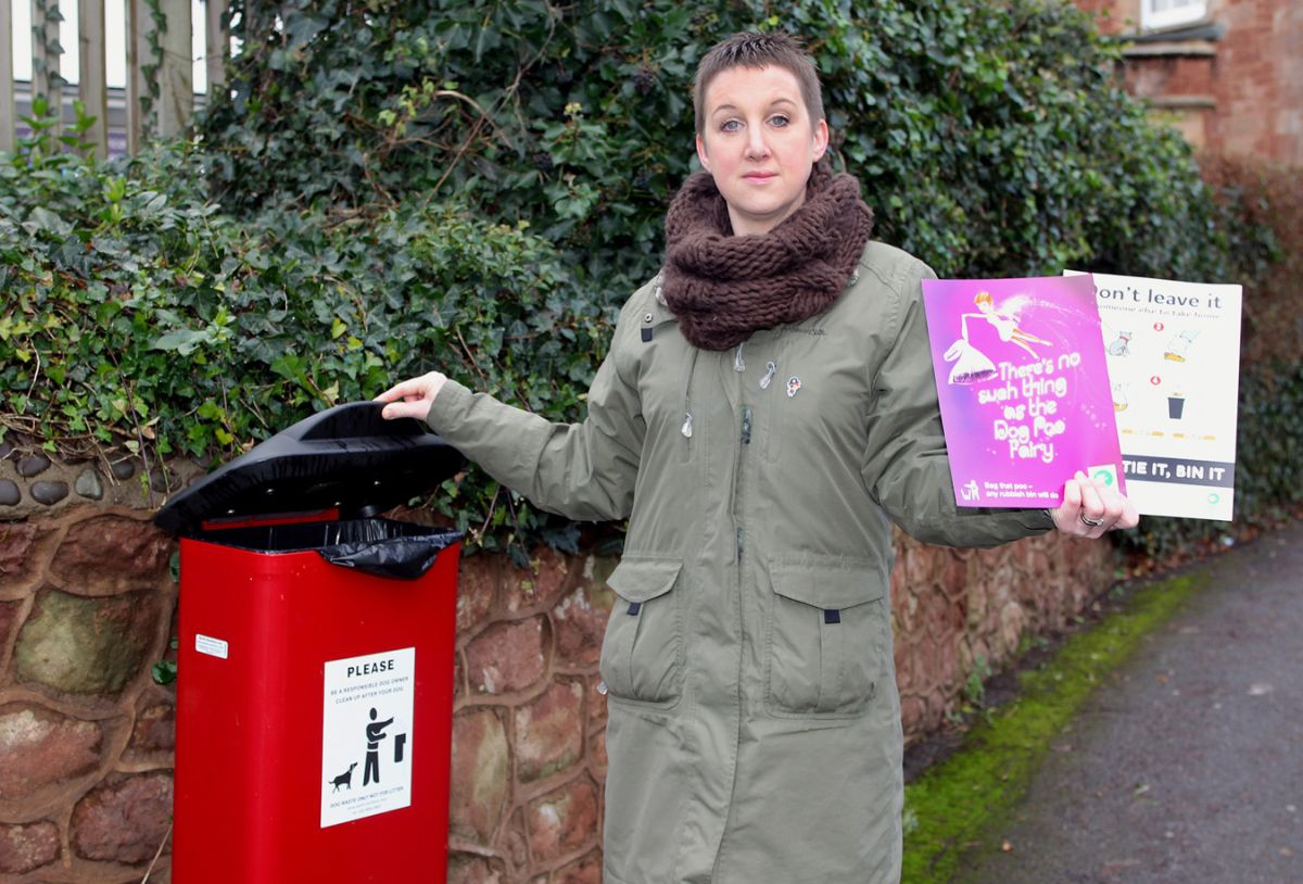 CHARLIE Kennedy hopes posters designed by children will encourage people to pick up their pooch's poo. PHOTO: Steve Guscott.
